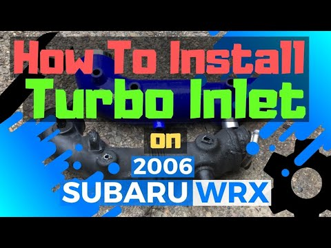 how to install turbo inlet on subaru wrx