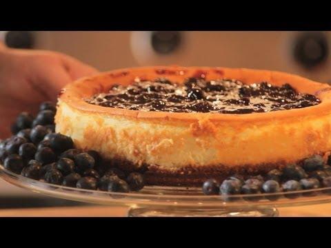 How To Make Blueberry Mascarpone Cheesecake