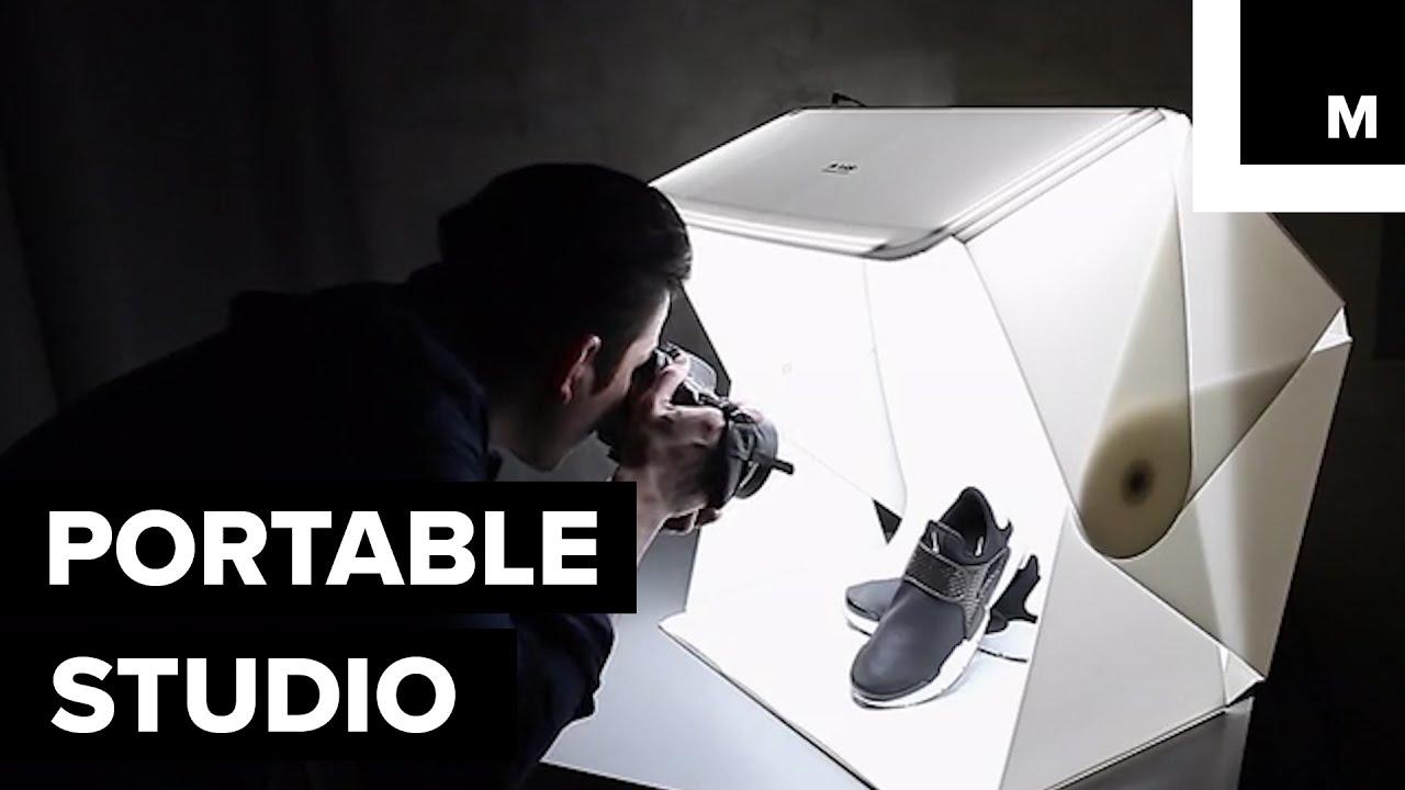 portable photography studio youtube. Black Bedroom Furniture Sets. Home Design Ideas