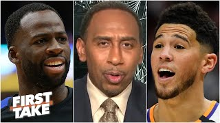 'You ain't Steph!' - Steṗhen A. reacts to Draymond Green's comments about Devin Booker | First Take