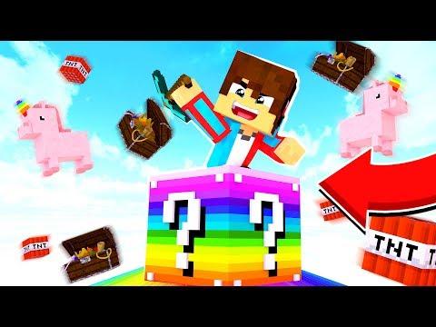 Ломаю радужные лаки блоки в майнкрафт! Гонка лаки блоков в Minecraft!