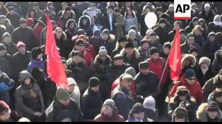 Protest against alleged election fraud as day of demonstrations begins in Russia
