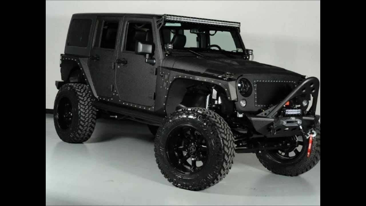 Lifted 2014 Jeep Wrangler Unlimited Kevlar Coated Custom