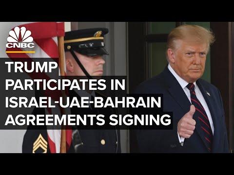 Trump speaks at Abraham Accords signing between Israel, UAE and Bahrain — 9/15/2020