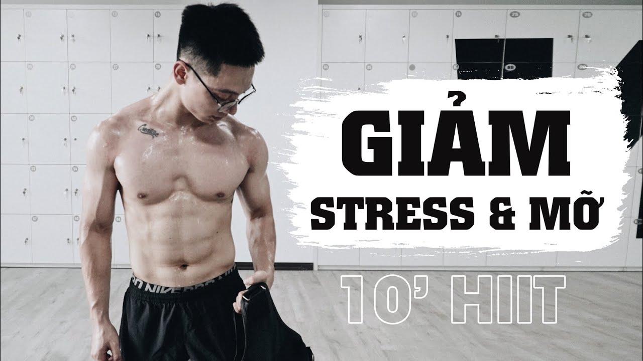 10 phút HIIT Giảm Stress/Giảm Mỡ   Intense Summer Body Workout   SHINPHAMM