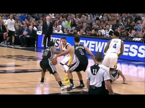 Patty Mills hit by Brandon Rush
