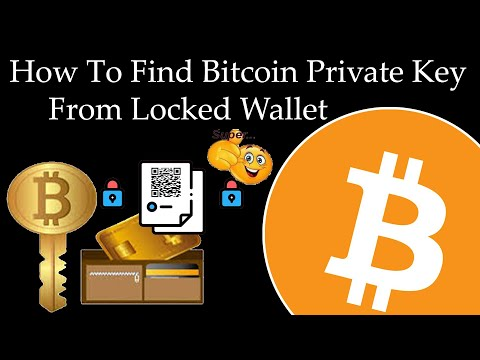 How To Find Bitcoin Private Key From Locked Wallet | Bitcoin Core Wallet