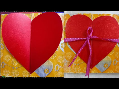 DIY | Love heart greeting card | how to make Valentine's day card.