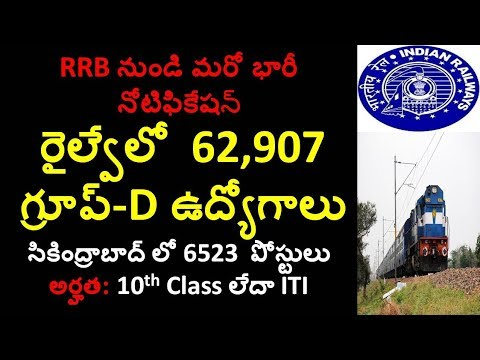 RRB Group D Official Full Notification Details 2018 in Telugu || rrb jobs 2018