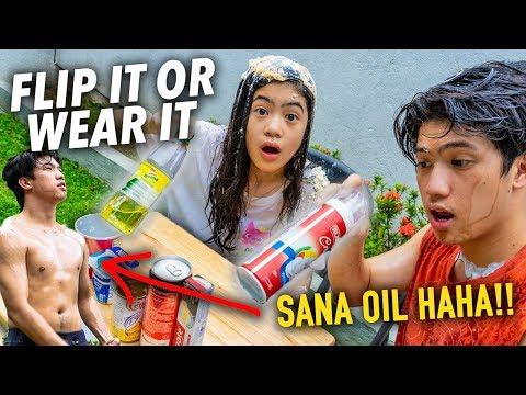 FLIP IT OR WEAR IT CHALLENGE!! (Sana Oil) | Ranz and Niana