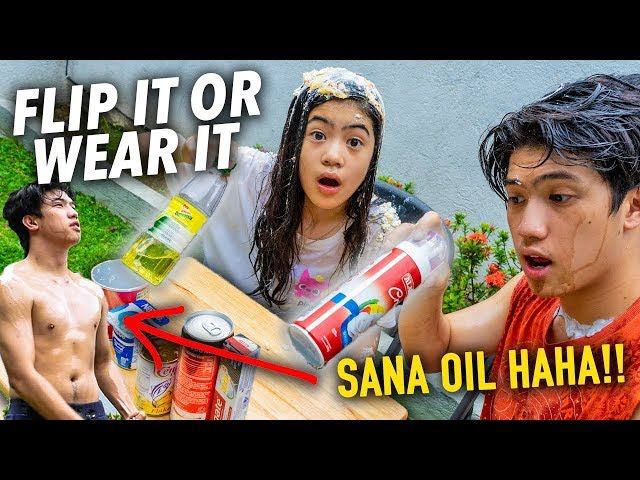 FLIP IT OR WEAR IT CHALLENGE!! (Sana Oil) | Ranz and Niana