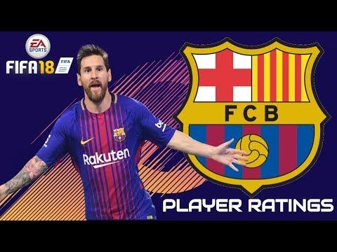 FIFA 18 - FC Barcelona Player Ratings