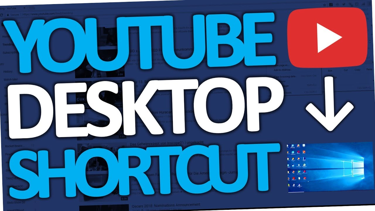 how to put youtube video on desktop
