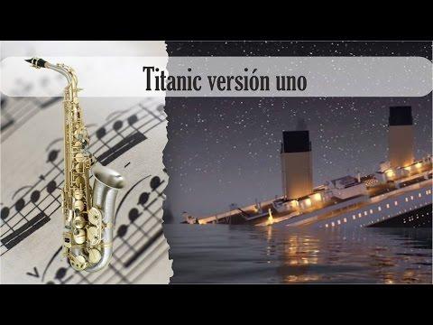 Partitura Titanic versión uno Saxofon Alto