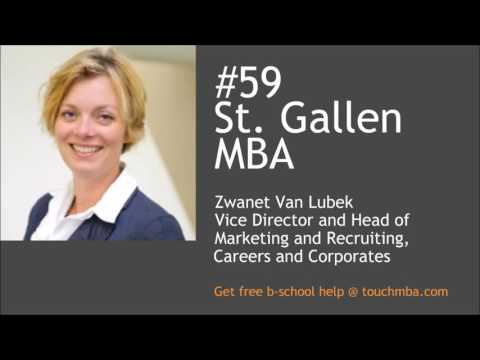 St Gallen MBA Admissions Interview with Zwanet van Lubek - Touch MBA Podcast