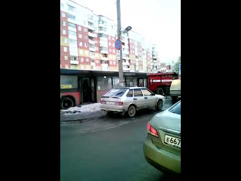 Загорелся автобус, Пермь, Садовый