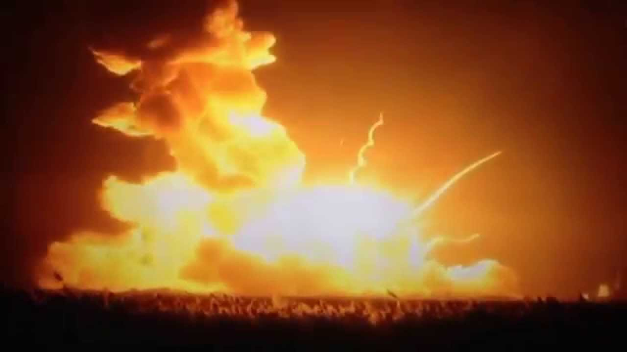 NASA Rocket Explodes on Launch - YouTube