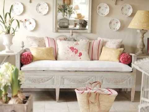 Estilo shabby chic youtube for Decorar muebles con tela