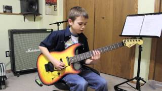 10 Year Old Plays Pearl Jam Yellow Ledbetter Solo Guitar Cover