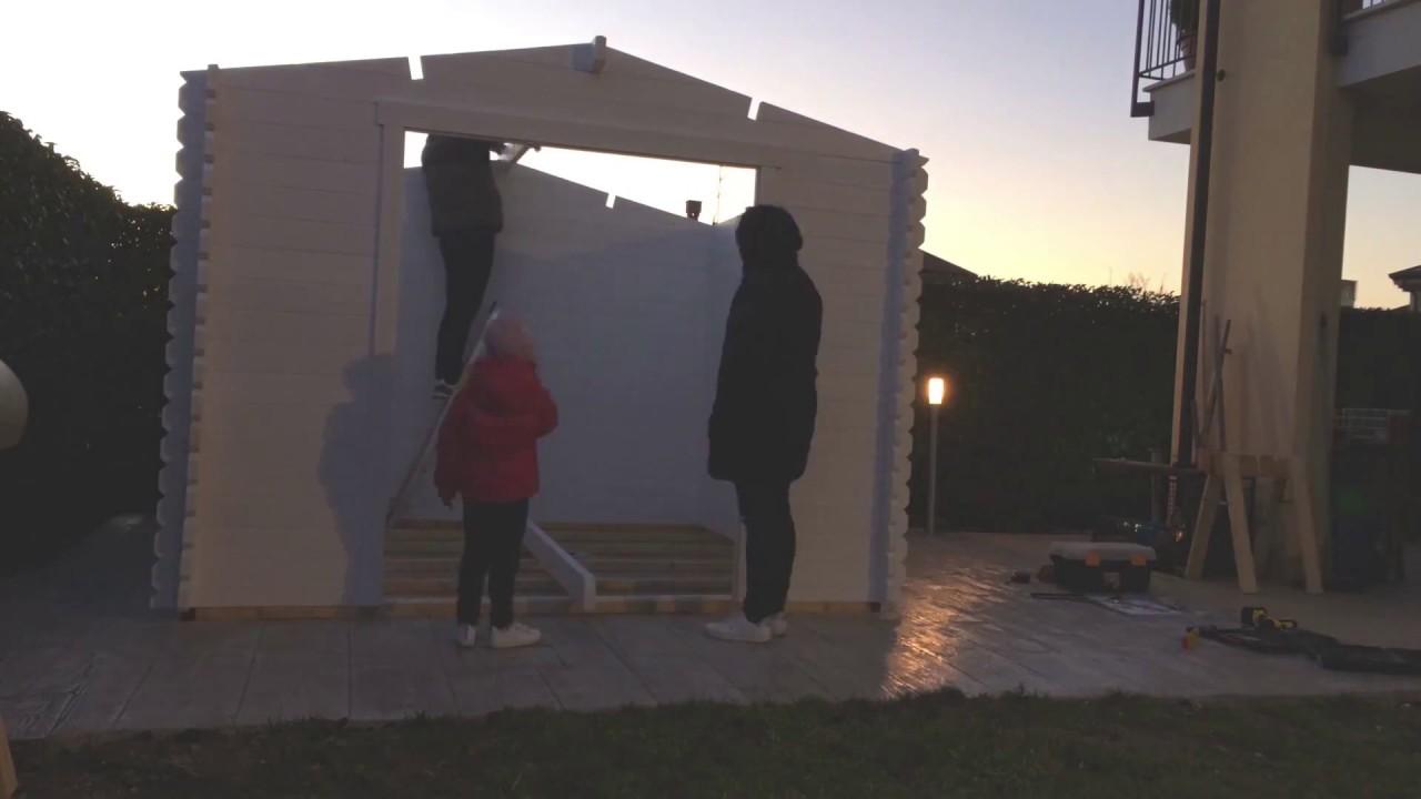 Montaggio casetta in legno tosca di obi time lapse for Casette legno obi