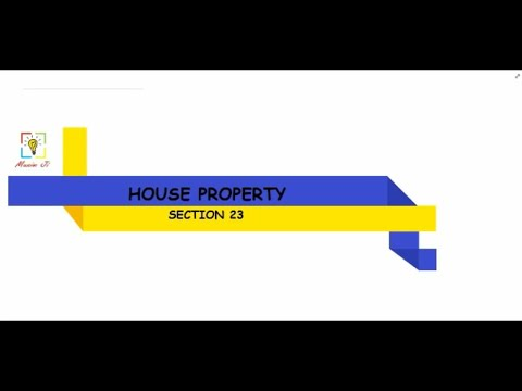 """SECTION 23 in Hindi """"Gross Annual Value"""" HOUSE PROPERTY ! INCOME TAX ! PART-2"""