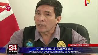Interpol dará citas vía web a venezolanos que buscan permiso de permanencia