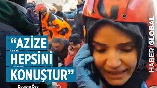 Elazığ'da Enkaz Altındaki Azize'yle Telefon Görüşmesi! Türkiye'nin Duygulandığı An!