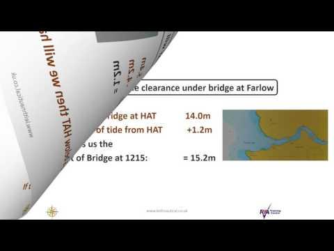 RYA Coastal Skipper: Tidal Height  bridge clearance