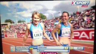 Командный чемпионат Европы по легкой атлетике 2013. 4х100m Women.(Командный чемпионат Европы по легкой атлетике 2013 в Гейтсхеде. 4х100м Женщины. European Athletics Team Championships 2013 at Gateshead...., 2013-06-23T12:37:12.000Z)