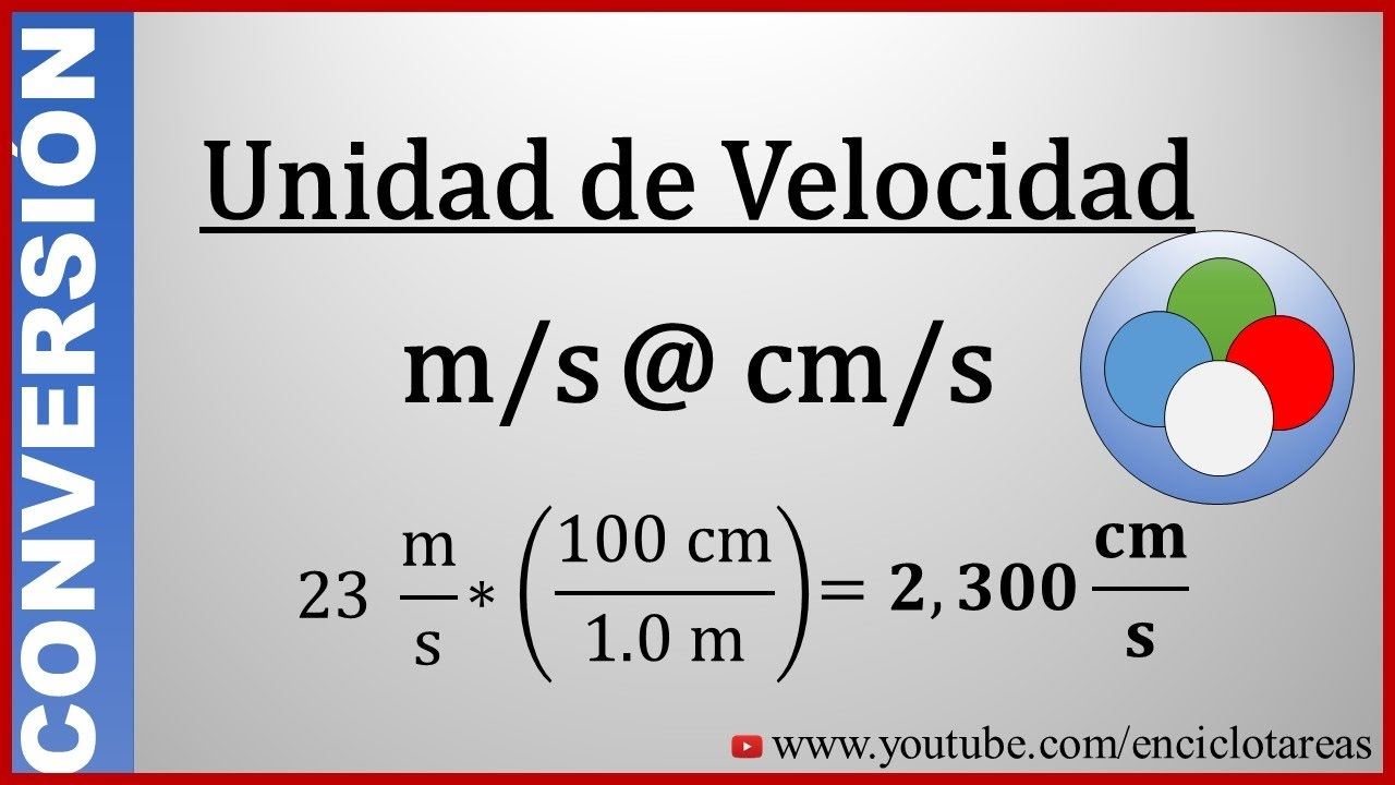 Convertir de metros/segundos a centímetros/segundos - (m/s a cm/s ...