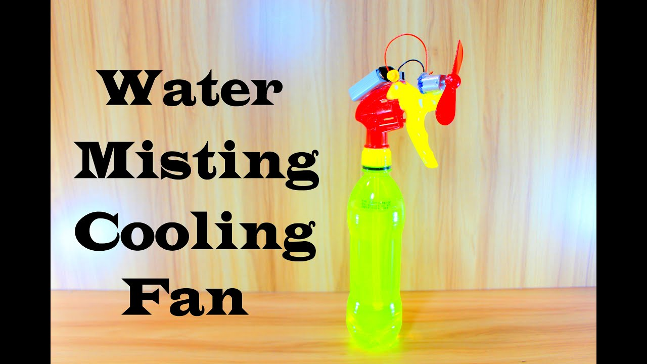 How To Make Water Spray Cooling Fan How To Make Misting