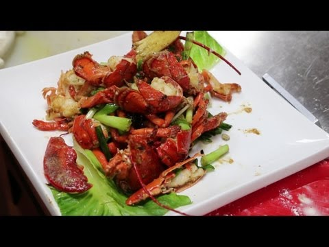 Hong Kong Style Ginger And Onion Lobster 薑葱龍蝦