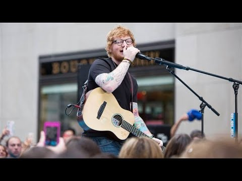 "Ed Sheeran performs ""Thinking Out Loud"" on Today Show"