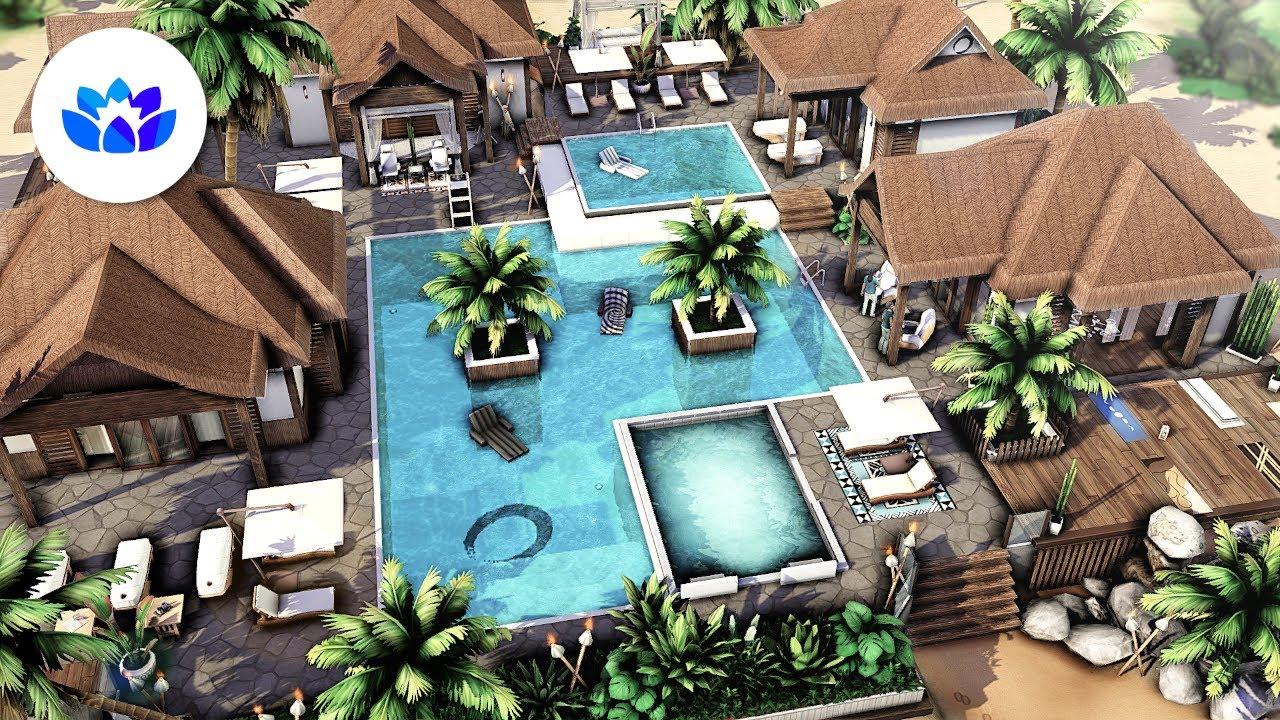Tropical Spa 🌴 | The Sims 4 - Speed Build (NO CC)