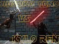 Ahsoka Tano vs Kylo Ren Stop Motion Fight
