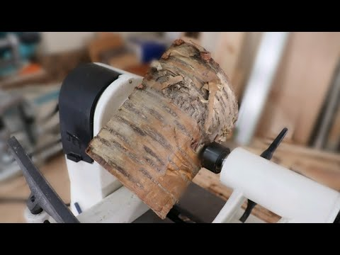 Wood Turning a Log into a Basic Bowl