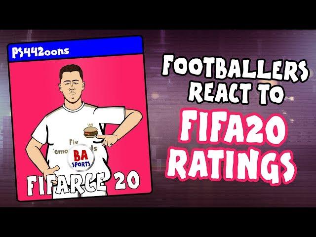 🎮Footballers React to FIFA 20 Ratings!🎮 (Feat Messi, Neymar, Ronaldo, Salah and more! PARODY demo)
