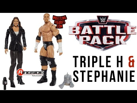 WWE FIGURE INSIDER: HHH & Stephanie McMahon  - WWE Battle Pack Series 42 Wrestling Figure By Mattel thumbnail