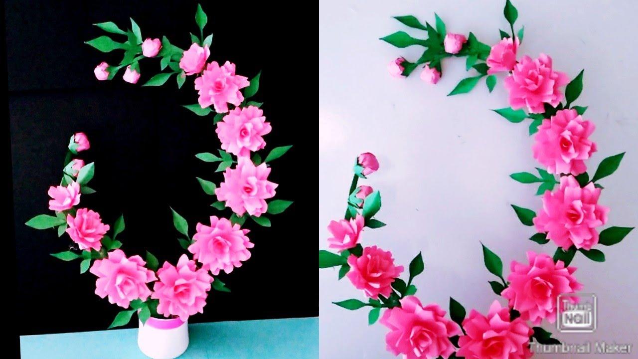 How to make beautiful  flowers! Paper  bouquet  idea ! Origami craft ideas ! Diy paper craft idea  !