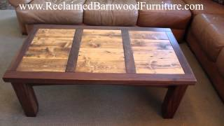 Colorado Walnut And Recycled Wood Coffee Table