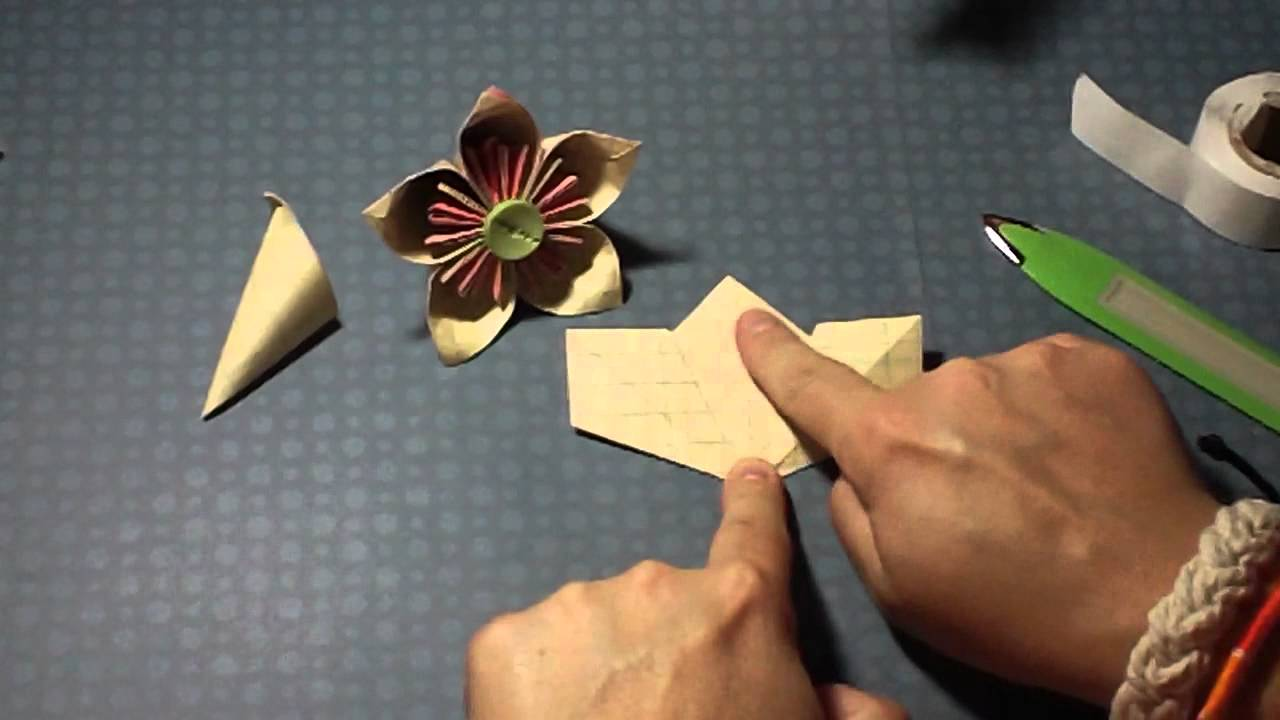 Paper Flower Tutorial Origami Kusudama Flower Youtube
