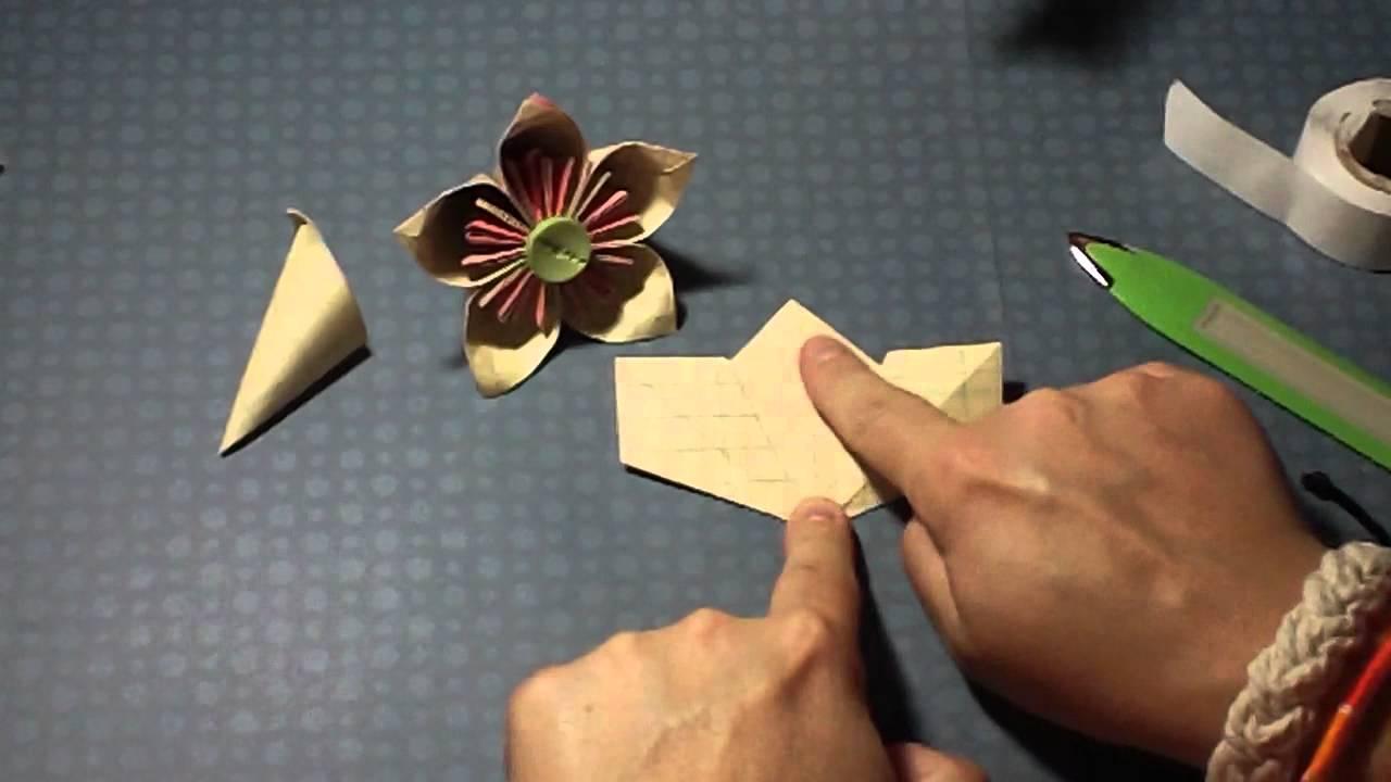 Paper flower craft youtube juvecenitdelacabrera paper flower tutorial origami kusudama flower youtube mightylinksfo