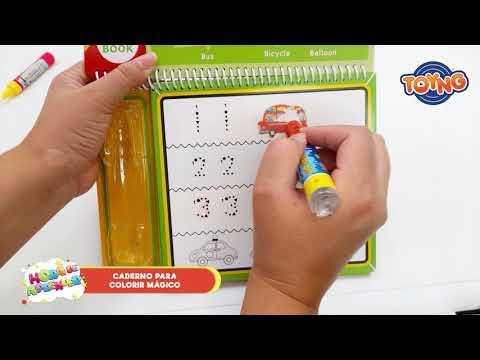 Kit desenho com caneta mágica - Hora de aprender