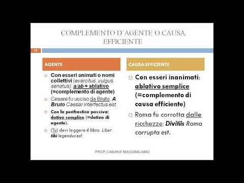Frase passiva in latino