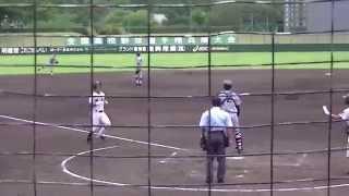 第97回全国高校野球選手権兵庫大会・一回戦。 二塁打・中継ミスで一気...
