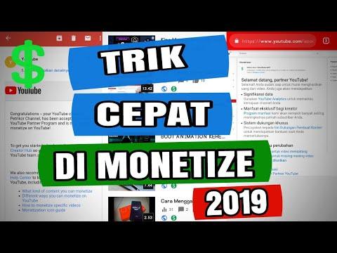 Cara Cepat Monetisasi Youtube 2019