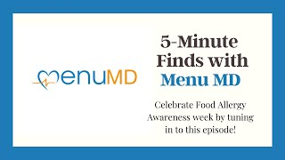 Learn the best restaurants for your Food Allergies with Menu MD on this new 5-Minute Finds!