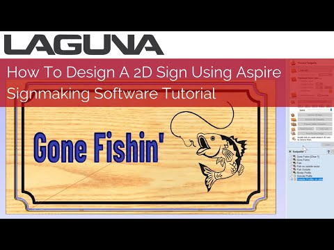 How To Design A 2D Sign Using Aspire Or VCarve Pro Software   Signmaking Software Tutorial
