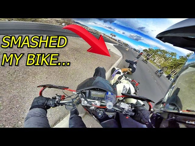 RIDER GOES DOWN RIGHT INFRONT OF ME . . .