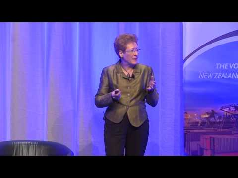 Dr Mary Quin of Callaghan Innovation, speaking at ...